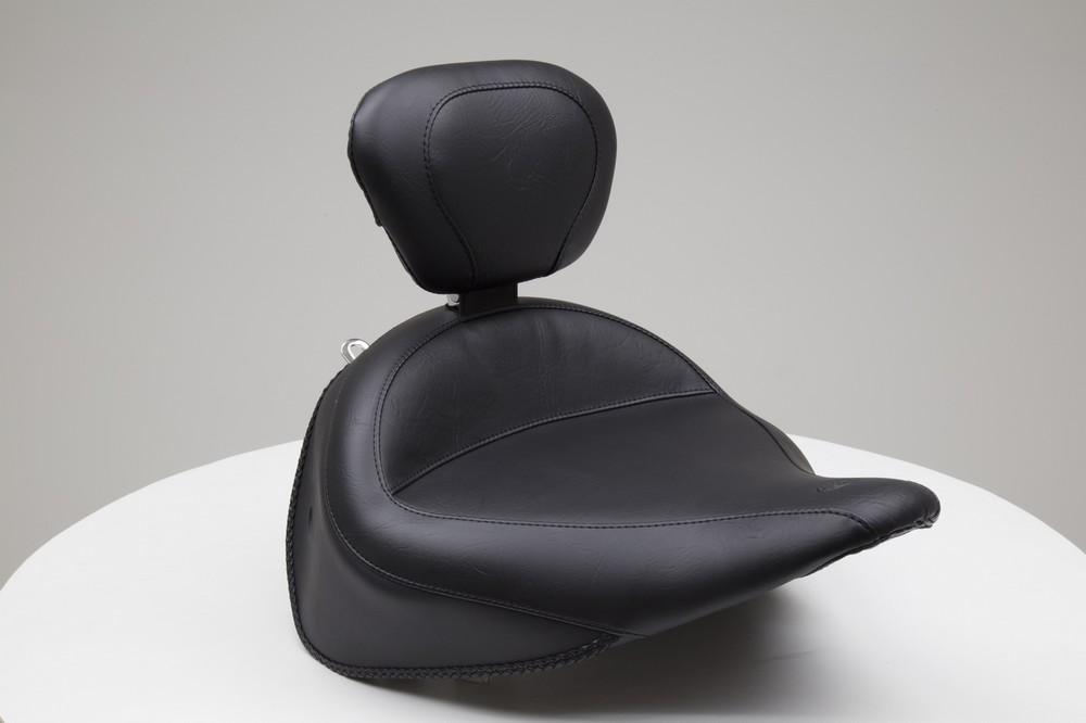 MUSTANG マスタング ワイドソロシート ドライバーバックレスト付き (Wide Solo with Driver Backrest)【SEAT WIDE SOLO DBR VINT】 Deluxe (EFI) - FLSTN 2007 - 2017 Deluxe - FLSTN 2005 - 2006 Deluxe-Injected - FLSTN-I 2005 - 2006