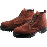 TRUSCO トラスコ中山 工業用品 シモン 安全靴 耐熱作業用編上靴 3522茶床耐熱 27.0cm