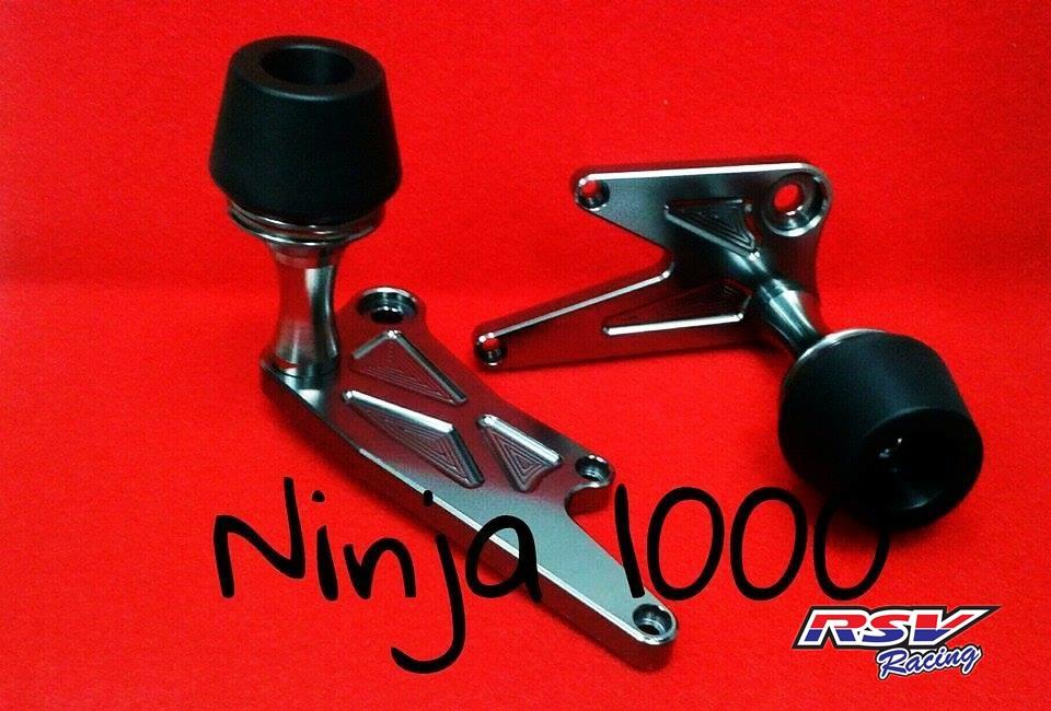 RSV racing アールエスブイレーシング ガード・スライダー フレームスライダー NINJA1000用 カラー:silver Ninja1000 all year