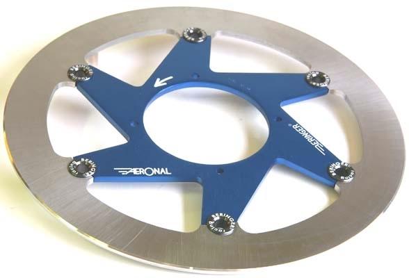 BERINGER ベルリンガー ディスクローター AERONAL フロントディスク カラー:ブルー RM-Z250 RM-Z450