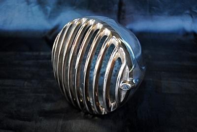 部品屋K&W クライムシーンチョッパーズ製ヘッドライト(ポリッシュ) VULCAN