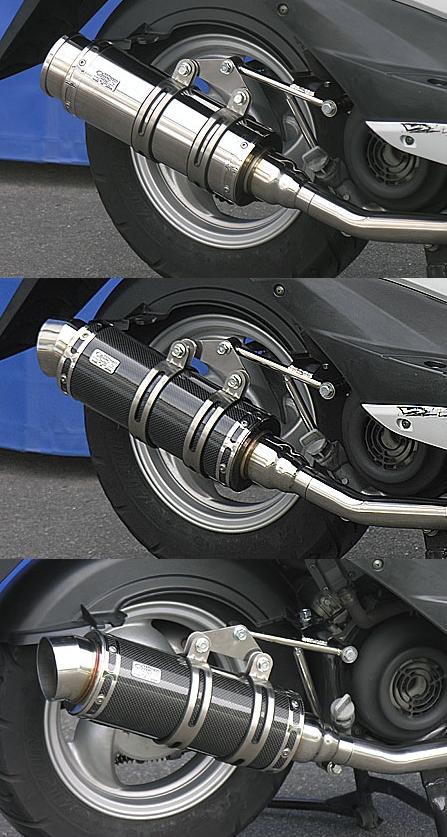 WirusWin ウイルズウィン フルエキゾーストマフラー ロイヤルマフラー バズーカータイプ ブラックカーボンバージョンアップキット キャタライザー付 (排ガス浄化触媒) BWS125(ビーウィズ)
