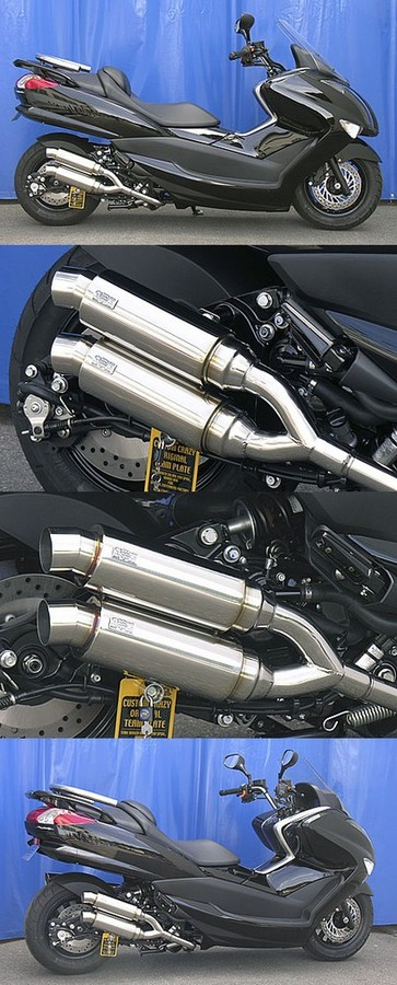 WirusWin ウイルズウィン フルエキゾーストマフラー アトミックツインマフラー スポーツタイプ キャタライザー付 (排ガス浄化触媒) マジェスティ250(SG20J)