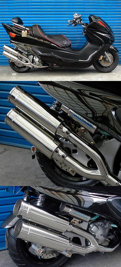高級品市場 WirusWin ウイルズウィン サイドバイサイドマフラー バズーカータイプ キャタライザー付 排ガス浄化触媒 マジェスティ250 SG03J マジェスティ250 SG03J, ナトリシ 5baa9acc