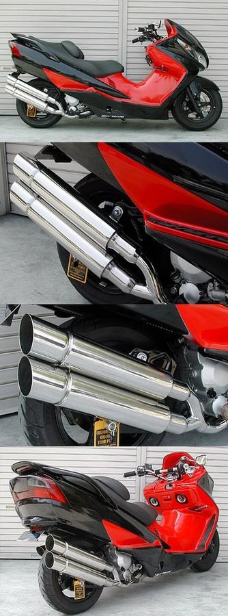 WirusWin ウイルズウィン フルエキゾーストマフラー スタイリッシュツインマフラー ポッパータイプ キャタライザー付 (排ガス浄化触媒) スカイウェイブ250