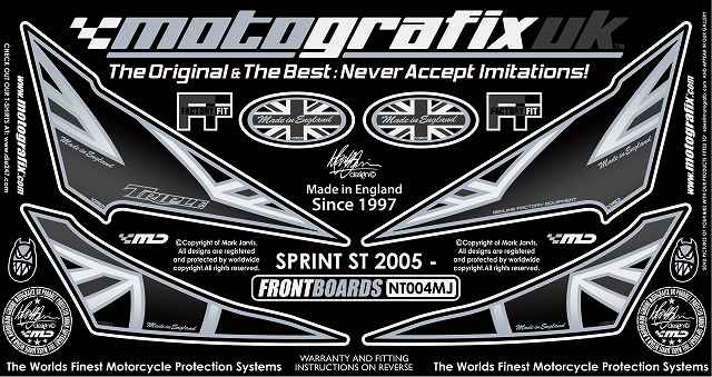 【ポイント5倍開催中!!】MOTOGRAFIX モトグラフィックス ステッカー・デカール ボディーパッド SPRINT ST [スプリント] 1050 05-09 SPRINT ST [スプリント] 955 05-09