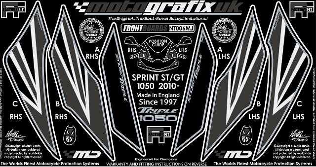 【ポイント5倍開催中!!】MOTOGRAFIX モトグラフィックス ステッカー・デカール ボディーパッド SPRINT ST [スプリント] 1050 10-11 SPRINT ST [スプリント] 955 10-11 SPRINT [スプリント] GT 10-11