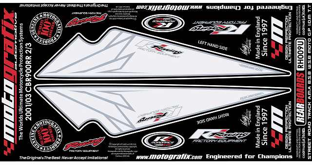 【ポイント5倍開催中!!】MOTOGRAFIX モトグラフィックス ステッカー・デカール ボディーパッド カラー:ホワイト CB1000R