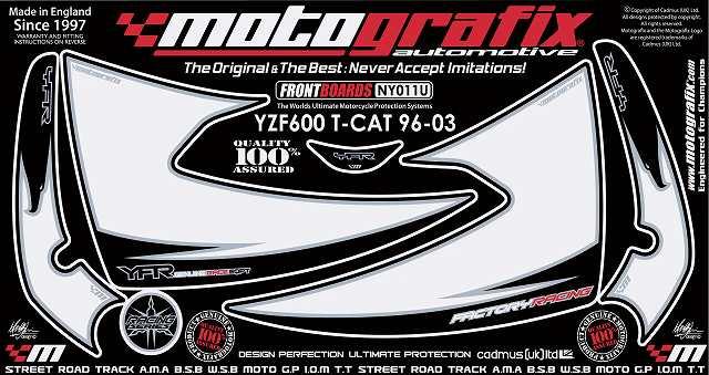 【ポイント5倍開催中!!】MOTOGRAFIX モトグラフィックス ステッカー・デカール ボディーパッド YZF600 THUNDER CAT [サンダーキャット]