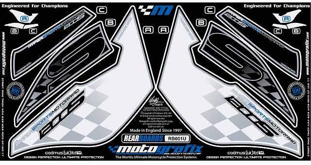 【ポイント5倍開催中!!】MOTOGRAFIX モトグラフィックス ステッカー・デカール ボディーパッド K1200S