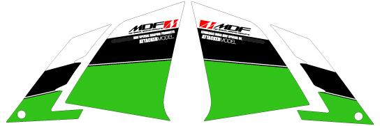 【ポイント5倍開催中!!】MDF エムディーエフ ステッカー・デカール 車種別グラフィックデカールキット 13-Ninja250 フロントサイド部分、左右セット ニンジャ250