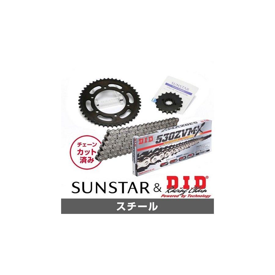 SUNSTAR サンスター フロント・リアスプロケット&チェーン・カシメジョイントセット X4 X4