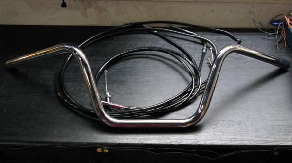 BOATRAP ボートラップ ハンドルキット 【エストレア】 70sアップハンドル+ロングケーブルセット ドラムブレーキ仕様 カラー:ブラック ESTRELLA [エストレア]