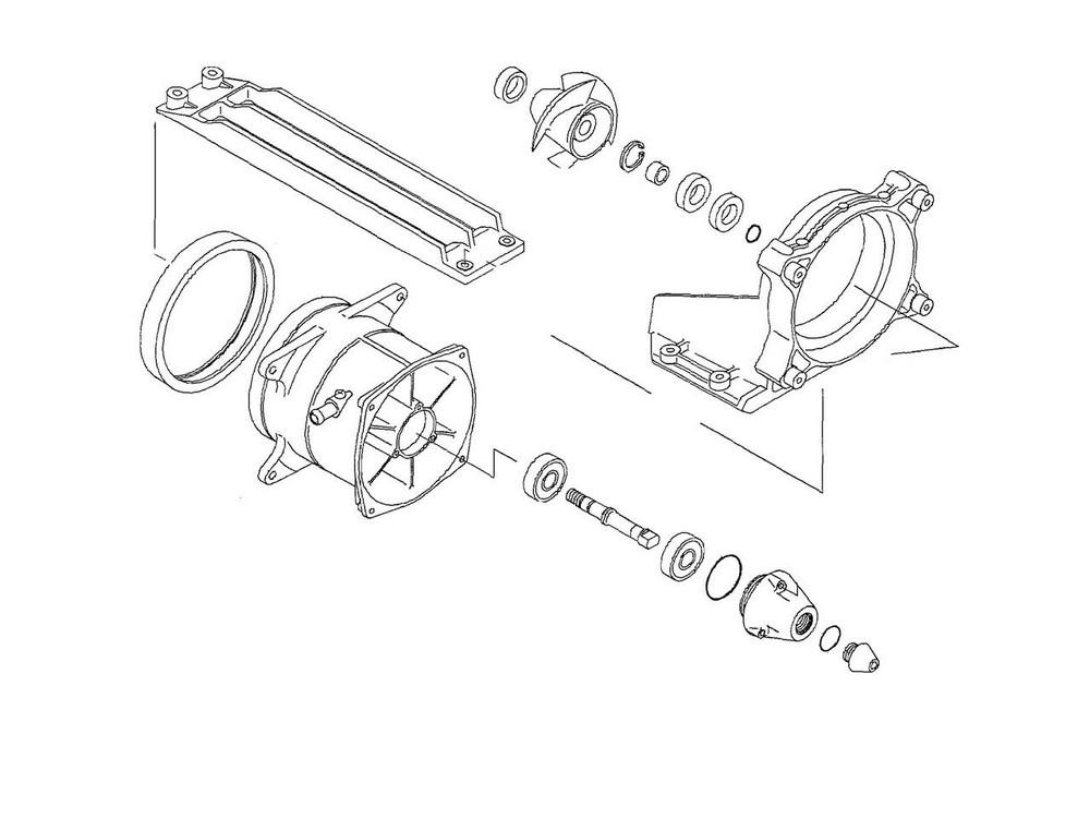 ダブリューエスエム その他エンジンパーツ turbine repair kit WSM Kawasaki 900 STX【ヨーロッパ直輸入品】