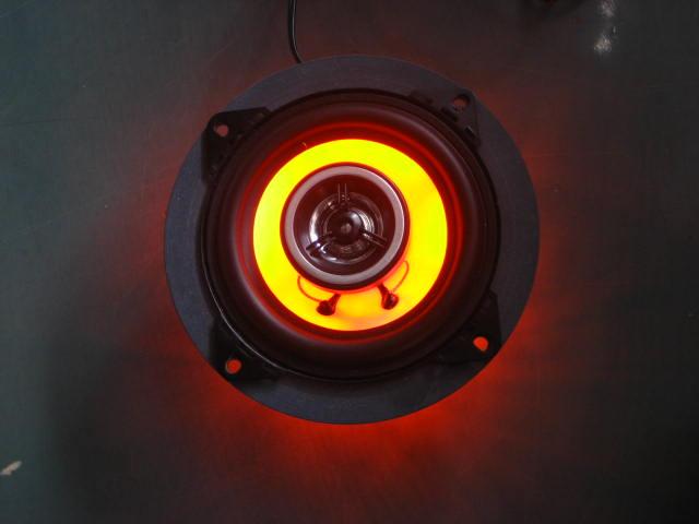 【クーポン配布中】M-SOUL(ムサシ) エムソウル その他電装パーツ 4inchスピーカー&LEDバックライトセット LEDカラー:オレンジ