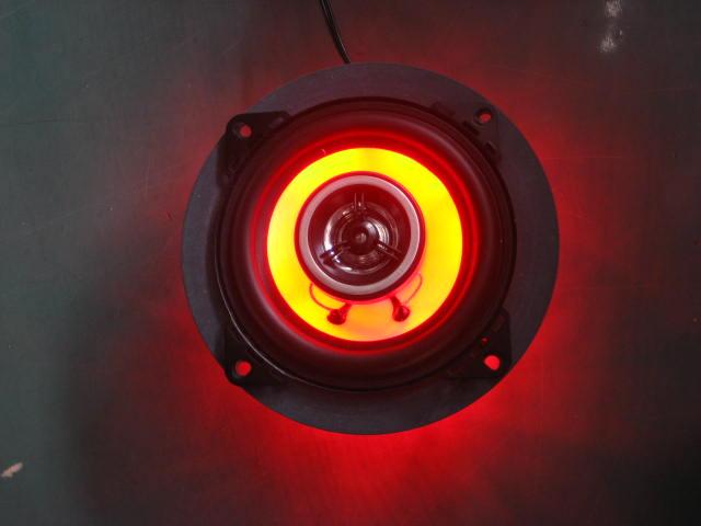 M-SOUL(ムサシ) エムソウル その他電装パーツ 4inchスピーカー&LEDバックライトセット LEDカラー:レッド