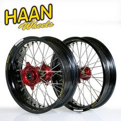 HAAN WHEELS ハーンホイール ホイール本体 フロント・リアモタードコンプリートホイール F3.50/16.5インチ-R5.50/17インチ カラー:ブラック カラー:レッド RMZ450 (05-14)