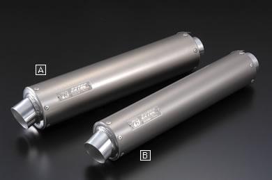アサヒナレーシング ASAHINA RACING スリップオンマフラー ファンクション チタンシェルサイレンサー Aサイズ:100Φ×480mm インナー径:55mm サイレンサー固定方法:バンド留めタイプ 差込み径:50.8mm