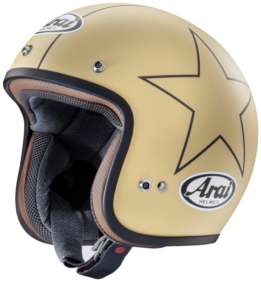 【在庫あり】Arai アライ ジェットヘルメット CLASSIC-MOD STARS CAMEL [クラシックモッド スターズ キャメル (つや消し)] ヘルメット サイズ:L(59-60cm)
