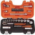 TRUSCO トラスコ中山 工業用品 バーコ インチソケットセット 1/4 3/8 差込角6.35mm 12.7mm