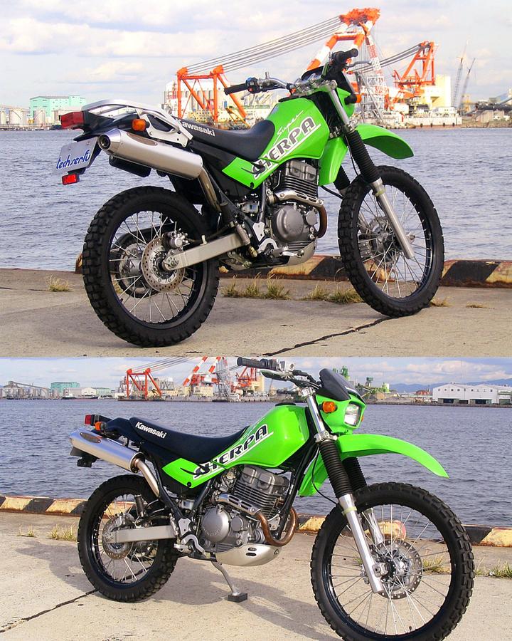 techserfu テックサーフ [Super Moto Trek] スーパーモトトレック スリップオンマフラー SUPERSHERPA [スーパーシェルパ]
