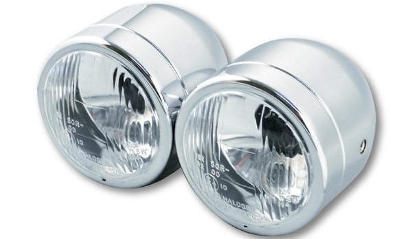 GP DREAM ジーピードリーム ヘッドライト本体・ライトリム/ケース ツインヘッドライト カラー:クローム HD-150 HD-200 KTR 150 WOLF 125 WOLF 125 EFi WOLF 150