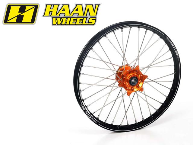 HAAN WHEELS ハーンホイール ホイール本体 フロントオフロードコンプリートホイール F17インチ カラー:グリーン カラー:ブラック CR 80/85 small wheel (96-09)