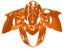 YANASHIKI ヤナシキ フルカウル・セット外装 フェアリングキット (FAIRING KT) 【カラー】オレンジ Hayabusa GSX1300R 08-15