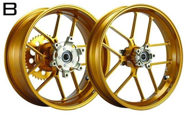 WUKAWA ウカワ ホイール本体 アルミニウム鍛造ホイール Type-B カラー:Golden ZX-6R 05-13