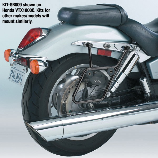 National Cycle ナショナルサイクル バッグ・ボックス類取り付けステー CRUISELINER(TM) マウントキット ブラック (Cruiseliner (TM) Black Mount Kit)