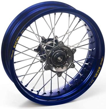 HAAN WHEELS ハーンホイール ホイール本体 リアモタードコンプリートホイール R4.50/17インチ ハブカラー:グリーン リムカラー:ブルー