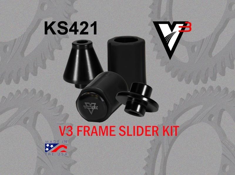 VORTEX ボルテックス ガード・スライダー フレームスライダーキット(Frame Slider kit) ZX600 Ninja (ZX-6R) 07-12