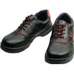 TRUSCO トラスコ中山 工業用品 シモン 安全靴 短靴 SL11-R黒/赤 23.5cm