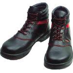TRUSCO トラスコ中山 工業用品 シモン 安全靴 編上靴 SL22-R黒/赤 25.5cm