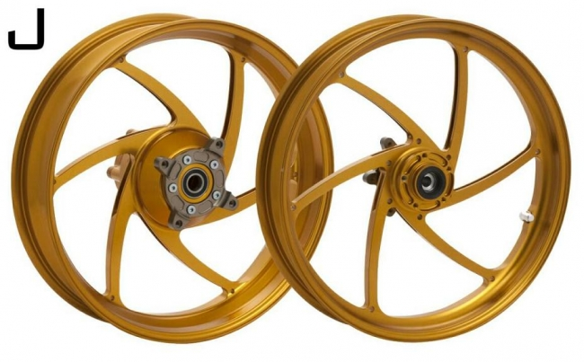 WUKAWA ウカワ ホイール本体 アルミニウム鍛造ホイール Type-J カラー:Titanium VTR1000SP 00-06