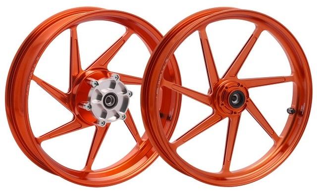 WUKAWA ウカワ ホイール本体 アルミニウム鍛造ホイール Type-S カラー:Orange VTR1000SP 00-06