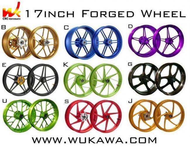 WUKAWAホイール本体AluminumForgedWheelType-Bカラー:BlueZX-14R06-12