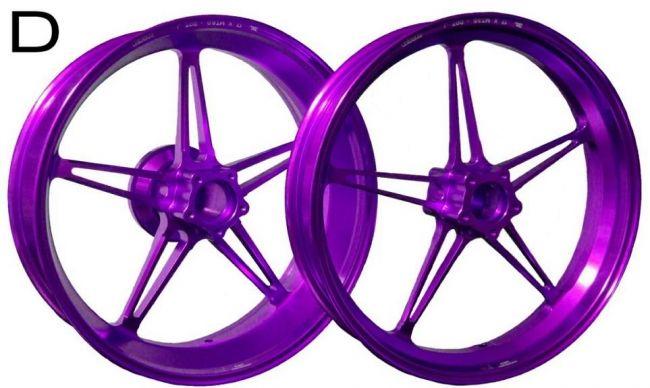 WUKAWA ウカワ ホイール本体 アルミニウム鍛造ホイール Type-D カラー:Purple NINJA ZX-10R 04-05