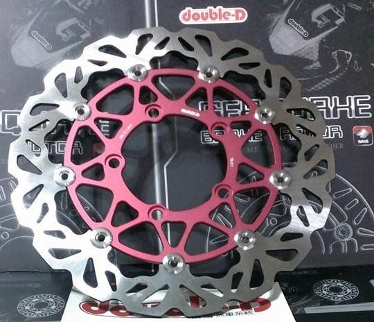 Double-D ダブルディー フローティングウェーブディスクローター カラー:レッド ELITE 300