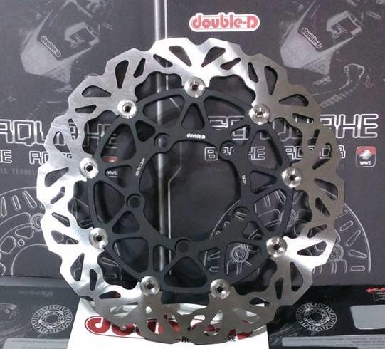 Double-D ダブルディー フローティングウェーブディスクローター カラー:ブラック XCITING 400
