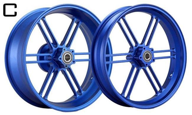 WUKAWA ウカワ ホイール本体 アルミニウム鍛造ホイール Type-C カラー:BLUE Z1000 (Air-cooled 10-13