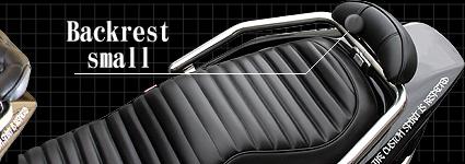 HEAVENS ヘブンズ バックレスト・グラブバー ハイグレードバックレスト付きタンデムバー タイプ:エナメルブラック スモール FUSION