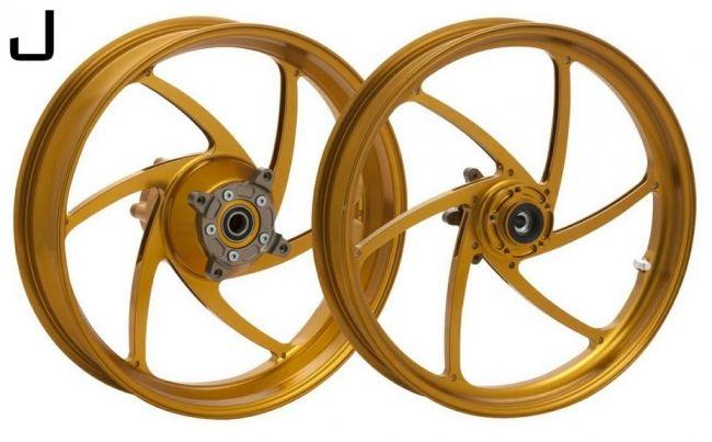 WUKAWA ウカワ ホイール本体 アルミニウム鍛造ホイール Type-J カラー:Golden Z1000 (Air-cooled 07-09