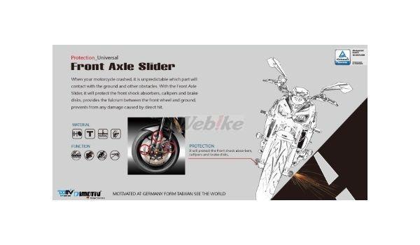 Dimotiv ディモーティヴ 3Dフロントアクスルスライダー(Front Axle Slider-3D) GSR600 GSR750