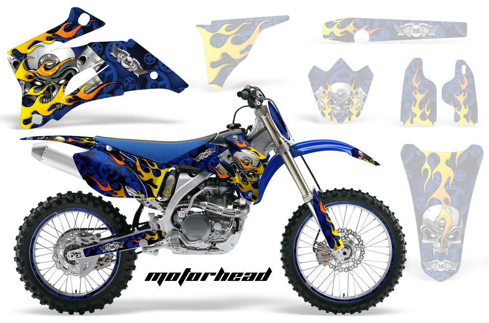 エーエムアール ステッカー・デカール AMR グラフィックデカール (シュラウドキット) グラフィックカラー:ブルー WR250X