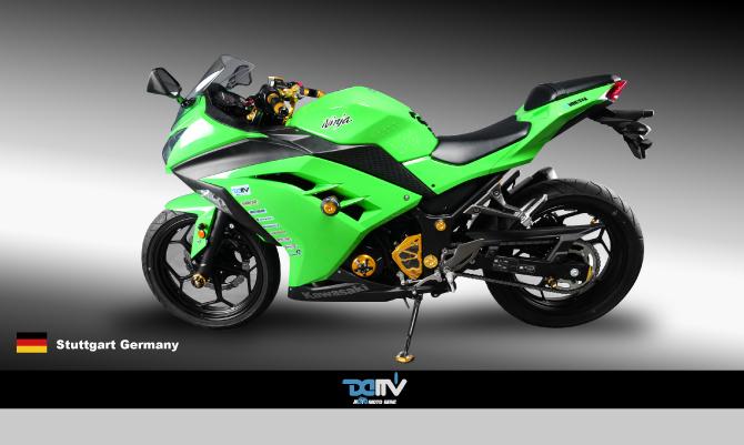 Dimotiv ディモーティヴ エンジンプラグ(Engine Plug) カラー:ブラック ニンジャ250 ニンジャ300