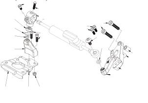 Dimotiv ディモーティヴ ステアリングダンパー ダンパーマウンティングキット (Damper Mounting Kit) カラー:ブラック タイプ:HYPERPRO用 ER-6F ニンジャ400 (2014-)
