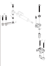 Dimotiv ディモーティヴ ステアリングダンパー ダンパーマウンティングキット (Damper Mounting Kit) カラー:ブラック タイプ:OHLINS用 ニンジャ250 ニンジャ250R