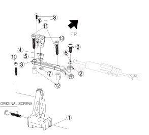 Dimotiv ディモーティヴ ステアリングダンパー ダンパーマウンティングキット (Damper Mounting Kit) カラー:ブラック タイプ:HYPERPRO用 MT-09
