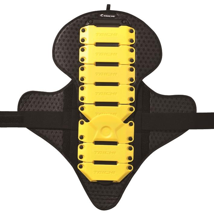 【在庫あり】【イベント開催中!】 RSタイチ RS TAICHI アールエスタイチ 脊椎プロテクター・バックプロテクター NXV309 CE フレックス バックプロテクター カラー:イエロー